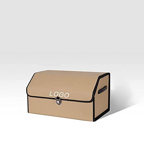 Coche Plegable Cuero Maletero Caja Almacenamiento Con Logotipo para Dacia Sandero 1 2 3 Organizador Bolsa Accesorio Almacenamiento Ordenado Impermeable Durable Negro