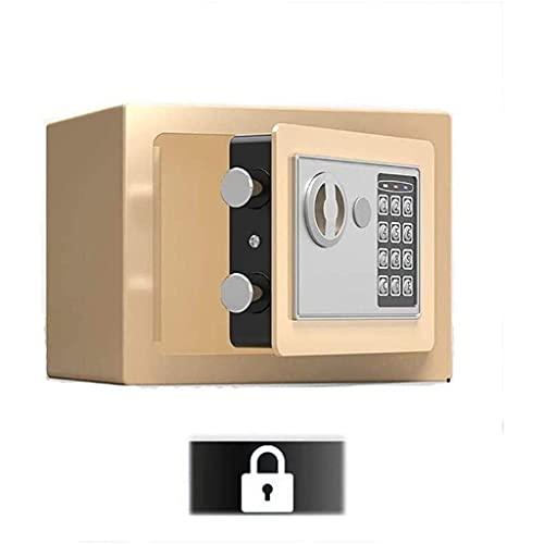 GaoF Caja de Seguridad, gabinete de Seguridad pequeño, Cajas de Seguridad de Oficina de 17 * 23 * 17 cm, Caja de casillero para Uso doméstico, para Guardar Efectivo, Documentos (Color: Negro)