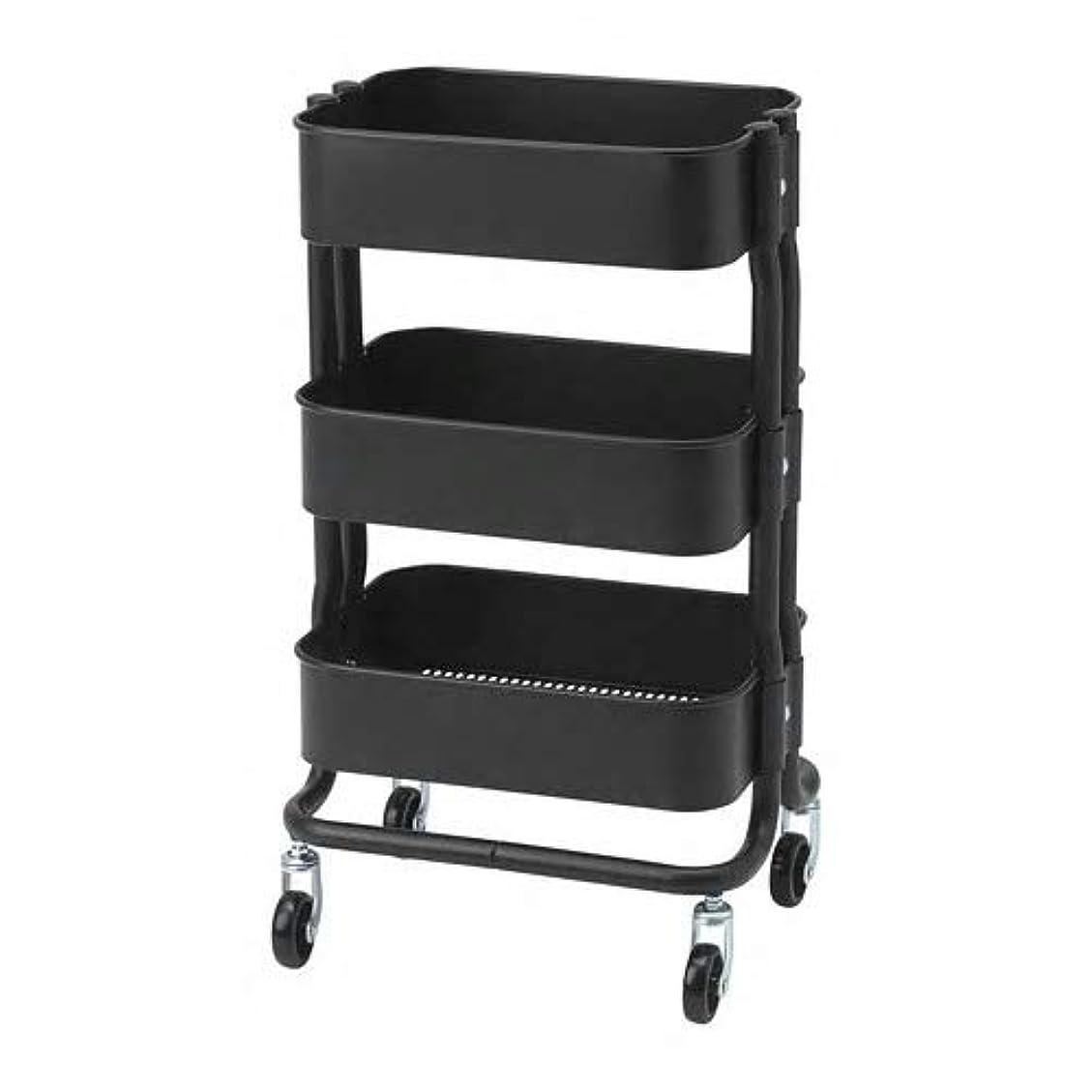 悪化する成熟した芸術IKEA/イケア RASHULT:ワゴン38x28x65 cm ブラック (304.459.91)