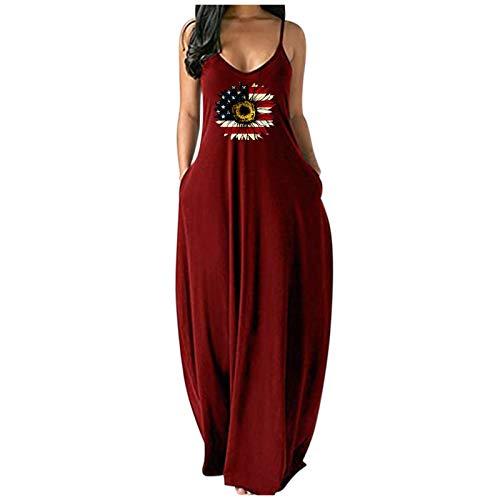 Women's Summer Maxi Dresses Beach Vacation Sleeveless Boho Sexy Long Dress Floral Tie Dye Stylish Tank Top Sundress