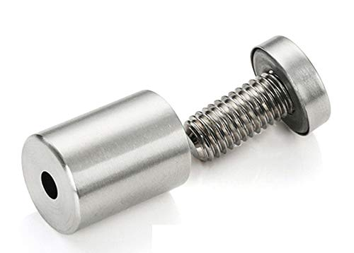Thaisan7 Advertising Nails Screws 303 Stainless Steel Bolt Standoffs Pins 8x50mm For Home Paintframe Office Shop Decor Improvement - 500PCS