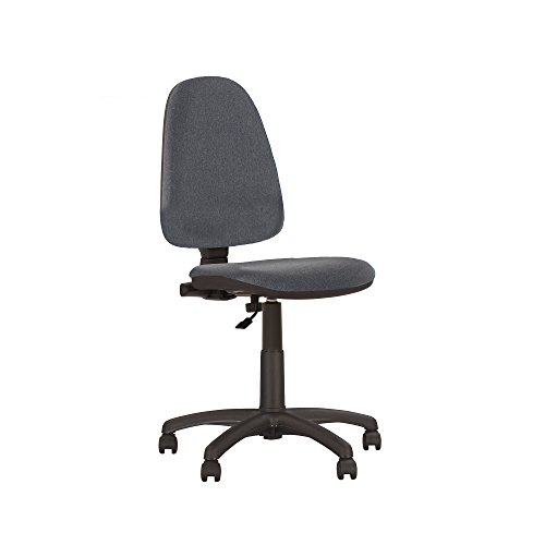 Prestige II Bürodrehstuhl, ergonomisch, neigbare Rückenlehne,Sitz verstellbar, verstellbare Rückenlehne,mit Armlehnen,130kg Tragkraft,-aus Stoff(Armlehnen abnehmbar) Gris S/A