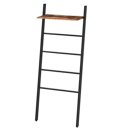 HOOBRO Ladder Towel Rack, Leaning Ladder Shelf, Blanket Ladder, 4 Hanging...