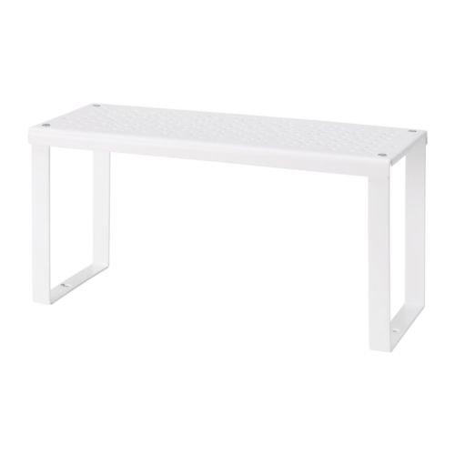 Ikea - 2 accesorios para estante blancos Variera, organizador de armario pequeño
