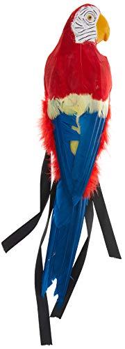 Papagei 50cm mit Gummi-Halterung, One Size