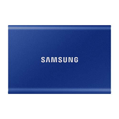 Samsung T7 1TB USB3.2 Gen2(10Gbps, Type-C) 外付けSSD (ポータブルSSD) ブルー MU-PC1T0H/EC 国内正規保証品