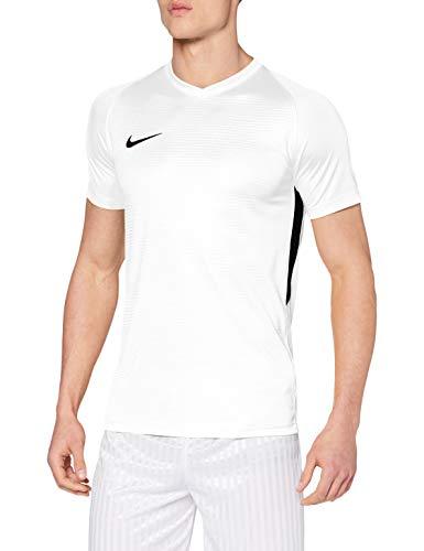 Nike Tiempo Premier SS, T-Shirt Uomo, White Black, L