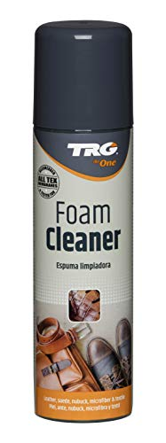 TRG The One - Espuma limpiadora para todo tipo de Piel, Ante, Nubuck, Textil y Microfibra | Limpieza y cuidado de calzado y complementos | Incoloro, 150ml