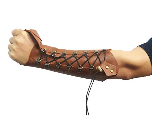 Visit the Nachvorn Handmade Leather Arm Guards Bow Hand Shooting Glove Adjustable for Hunting Shooting Target Practice Bow Brown on Amazon.