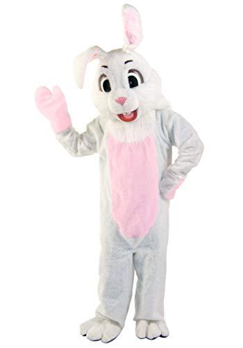 Disfraz de conejo de Pascua para adulto, disfraz de conejo con mscara de conejito de peluche, talla XL, color blanco