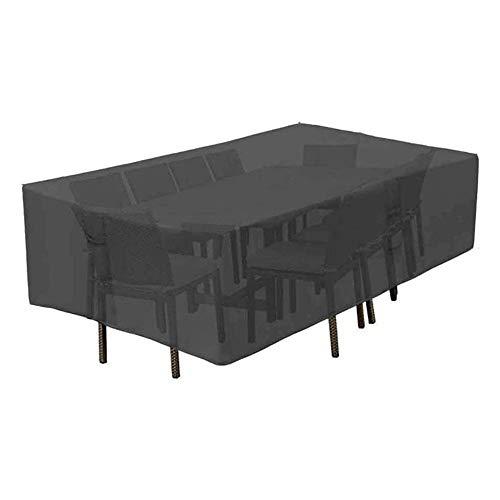XGGYO Funda para Muebles de Jardín, Funda Protectoras Muebles Jardin, Cubierta de Mesa de Jardín, Cubierta de Exterior Impermeable/Negro / 126×126×74cm