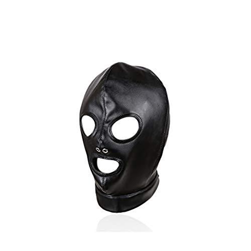 XinLace-EUR - Máscara de piel sintética para disfraz de boca y máscara...