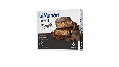 BIMANAN - beFIT - Proteína para tonificar, Barritas Chocolate, 6 uds 162 gr