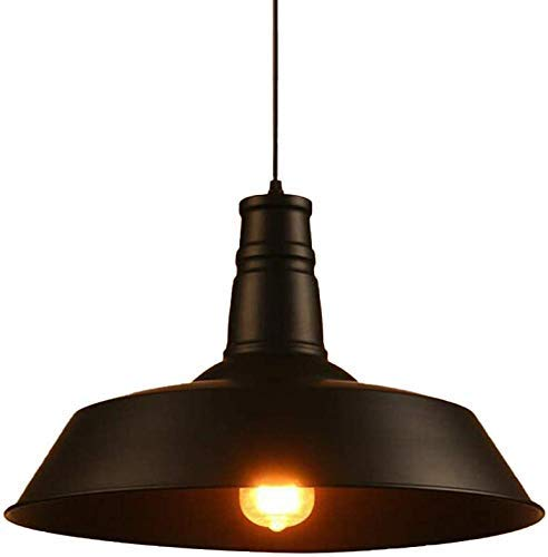 UWY Retro Industrial Ceiling Lamp Brass Antique Metal Hanging Lamp Suitable for Shade Restaurant Lighting Kitchen Decoration Lamp,B