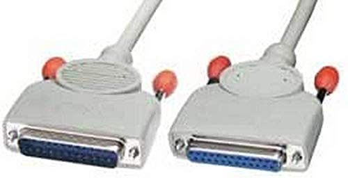 Lindy Straight Through RS-232 Serial & PC to Fax/Modem Cable, All Pins Connected, 5m (25DM/25DF) (31378)