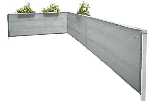 Florabest® Sichtschutz Witterungsbeständig Balkonsichtschutz Grau 6 x 0,75m