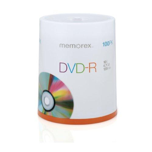 Memorex 4.7Gb/16x DVD-R Spindle, 100 pack DVD-R Spindle