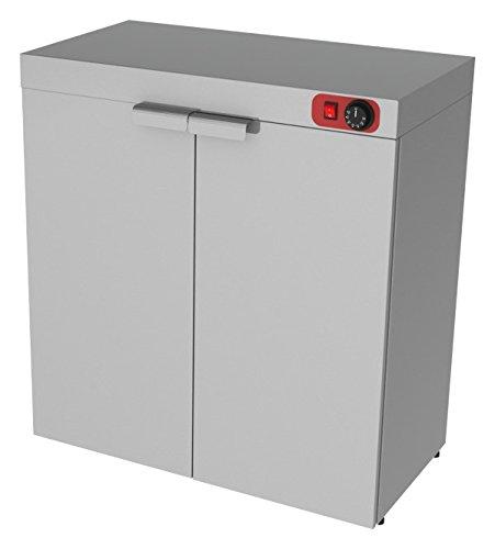 Wärmeschrank, 800x420x800 mm, Edelstahl, 2 Türen,