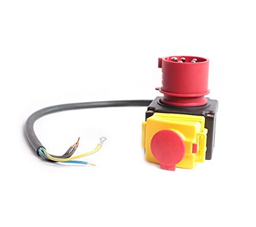 KEDU Switch Geräteschalter KOA7 400V für Kreissäge Holzspalter Wippsägen Universal Schalter 380-400V 16A