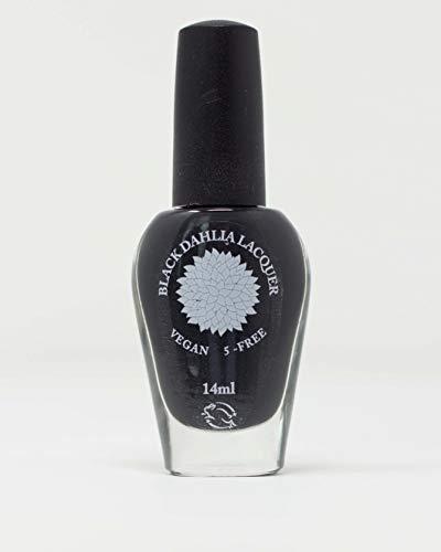 Latex   Pitch Black Matte Nail Polish   Halloween   By Black Dahlia Lacquer