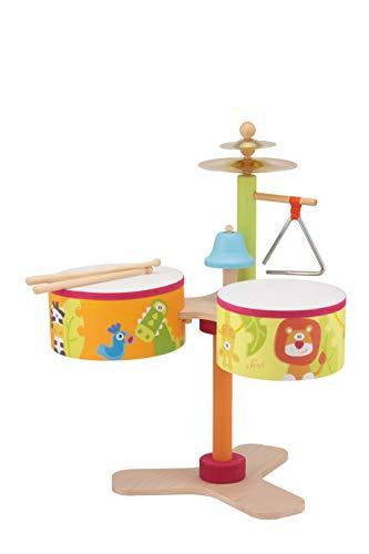 Trudi- Batteria Savana Strumenti Musicali, Multicolore, 83043