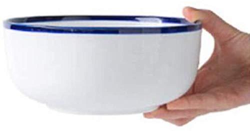 XUEXIU New Wave Soup Plate Grand Bol À Soupe Four À Micro-Bol De Nouilles Bol De Fruits Saladier Art De La Table De Cuisine De Ménage Perfect for Catering and Home (Color : 18.5 * 8cm)