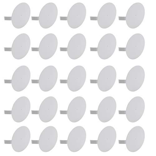 Meister Federdeckel weiß - Geeignet für Ø 70 mm Schalterdosen - 25 Stück - Für einen bündigen Abschluss mit der Wand / Dosendeckel für Gerätedosen / Spreizdeckel zum Einhaken / Klemmdeckel / 7460310