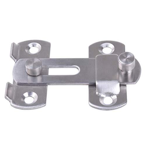 DUO ER Stainless Steel Hasp Latch Lock Sliding Door for Window Cabinet Fitting Mounted Door Buckle Security Sliding Door Latch