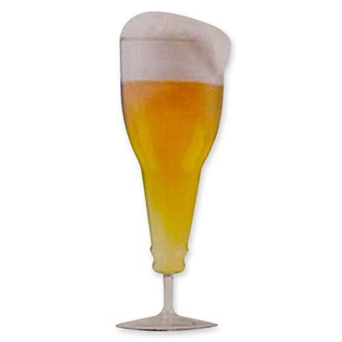Eurrowebb Verre Double parois à bière Forme Bouteille renversée Verre Magique