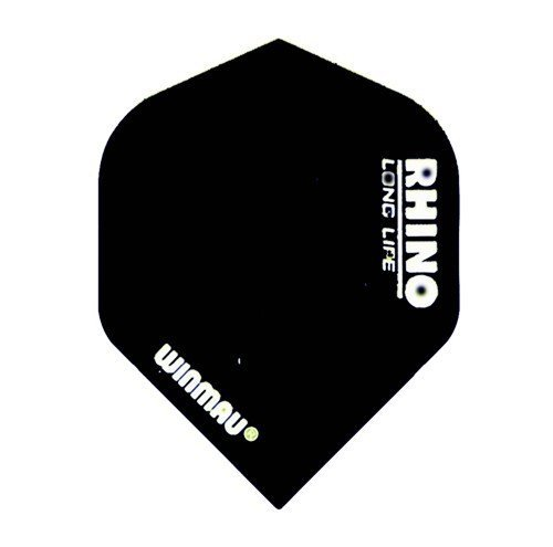 Winmau Rhino Standart Colour Dart Flights (3 Stk.), Winmau Rhino Standart Colour Flights:Schwarz