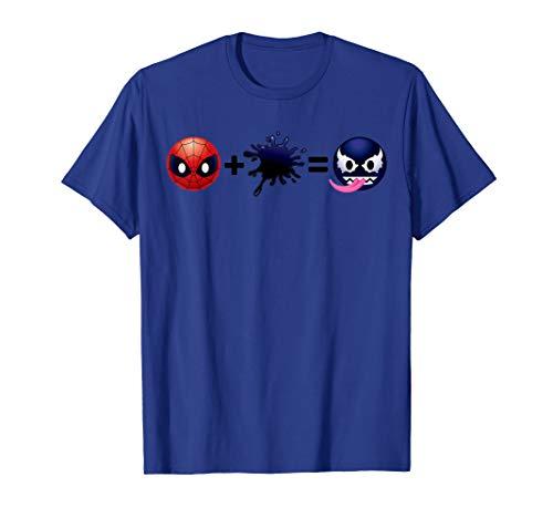 Marvel Spider-Man Plus Venom Emoticon Graphic T-Shirt
