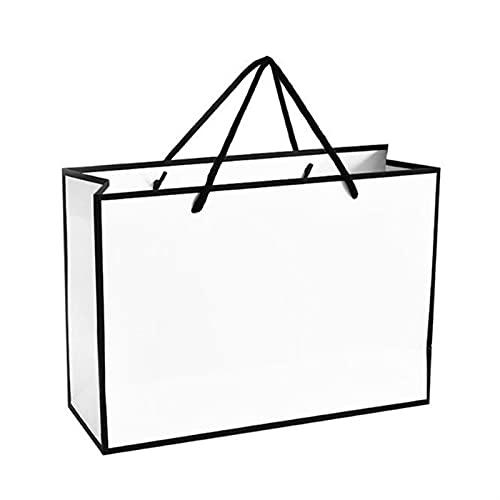MVAOHGN Caja de Oro de Gran tamaño para Pijamas Libros de Ropa Embalaje Bolsas de Papel de Papel de Oro Bolsa de Regalo de Papel Kraft (Color : Style A, Gift Box Size : 35x26x13cm)