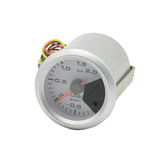 ZhenHe 52mm de Coches Instrumento indicador Turbo Boost Gauge Colorido Backlight Boost Turbo Gauge Coches -1~2Bar for el Coche del Carro del Barco Tablero