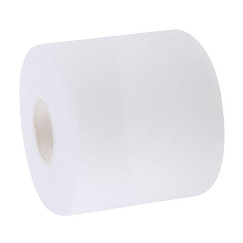 FLAMEER tennis badminton, grip tape cuscino Wrap smorzamento degli urti film, bianco