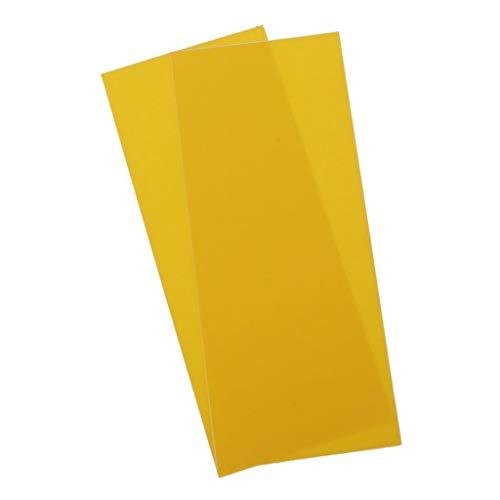 P Prettyia 2 Stück Wasserdicht Selbstklebender Reparatur Aufkleber Patch 18x7,5cm für Daunenjacken, Regenjacke, Regenschirm, Schlafsack - Gelb