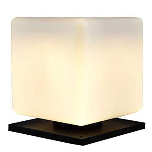 Waterdicht helder buiten waterdicht tuin buiten lichtzuil lantaarn vierkant licht wit acryl lampenkap garage deur [energie-efficiëntieklasse A]