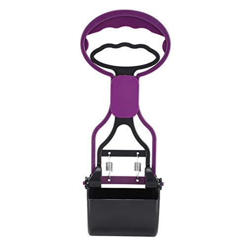 Cuque Dog Faece Picker, Reinigungswerkzeug für tierische Abfälle Kunststoff Dog Faece Picker Haustiere im Freien Pooper Scooper, 1Pets Pooper Scooper Tier für Hunde Haustiere Haustiere KOT(Purple)