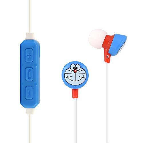 グルマンディーズ ドラえもん Bluetoothステレオイヤホン フェイス ブルー dr-bt001