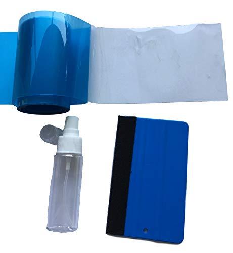 Lakbescherming SET - 5 meter x 10 cm folie transparant + viltrakel + sproeier - zelf eenvoudig lakbeschermfolie aanbrengen auto personenauto auto auto - kofferbakrand/dorpellijsten beschermen - krassen voorkomen