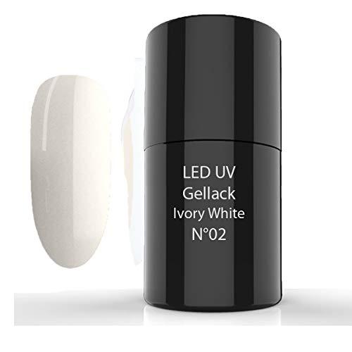 LED UV Gellack, UV Nagellack, UV Lack, 6ml (02 Ivory White)