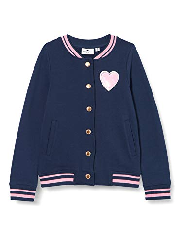 TOM TAILOR Baby-Mädchen Sweatjacke Pullover, Dress Blues Blue, 116/122