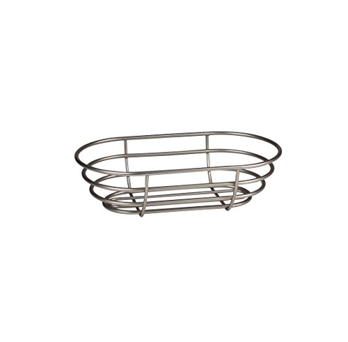 Spectrum Diversified Euro Basket, Classic Kitchen Design for Breads, Roll, Muffin Pastries & Baked Good Storage, Traditional Style Snack & Food Holder for Serving, 7 x 12.5 x 3.5, Satin Nickel