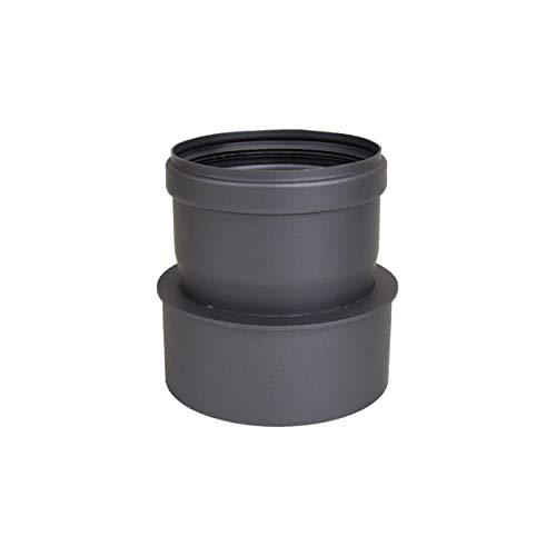 LANZZZAS Pellet pellet rookpijp pelletkachel uitbreiding staal blank ongelakt Ø 100 mm op Ø 120 mm