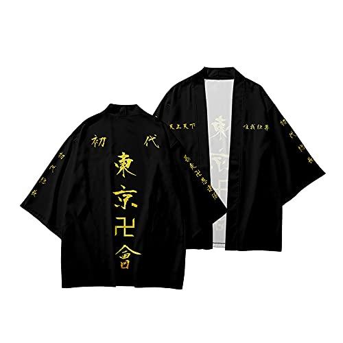 Anime Tokyo Revengers Coat Cape Manjiro Sano Ken Ryuguji Kimono Cape Disfraz de Cosplay Kimono Cardigan Tops Abrigo Uniforme para Mujeres Hombres