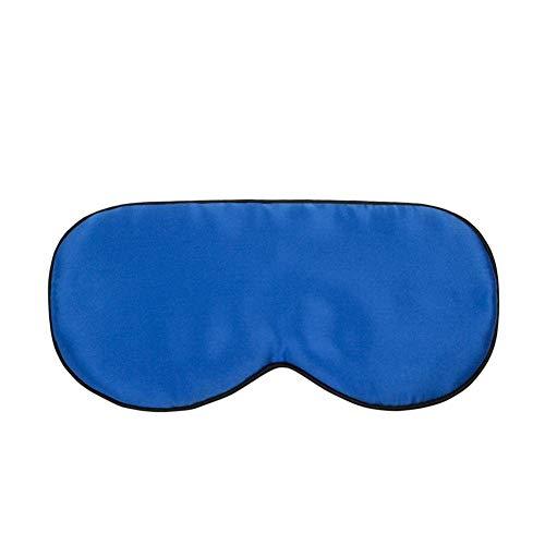 Asosmos Schlafen Masken Riemen Naturseide Super Glatter Schlaf Augenschirm Schlafen Zubehör - Blau