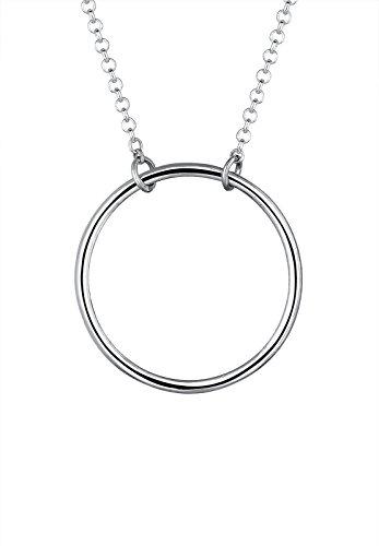 Elli Halskette Damen Kreis Geo Minimal in 925 Sterling Silber vergoldet