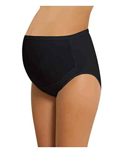 Product Image of the NBB Women's Adjustable Maternity high Cut 100% Cotton Underwear, Brief Black...