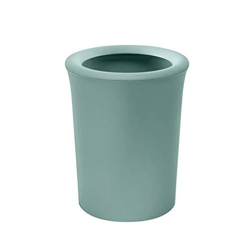 Anah Bote de Basura - Papelera pequeña, Cubo de Basura para baño, Dormitorio y Oficina (Color : Green)