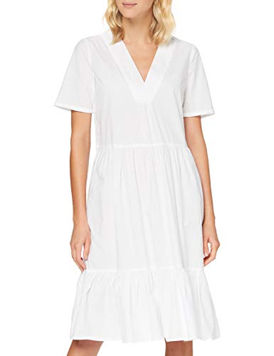 ONLY Damen ONLKARLA S/S MIDI Dress WVN Kleid, White, 36