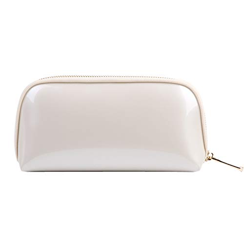 Voyage sac de rangement sac de lavage sac cosmétique femme main prendre pvc shell sac cosmétique 22 * 5 * 11 CM beige